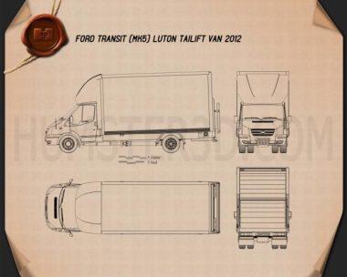 Ford Transit Luton Tailift Van 2012 Blueprint