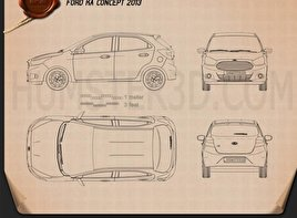 Ford Ka concept 2013 Blueprint