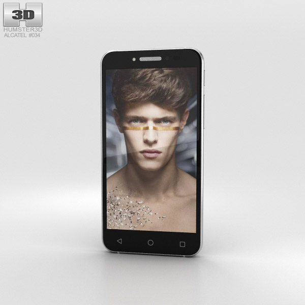 3D model of Alcatel Shine Lite Prime Black