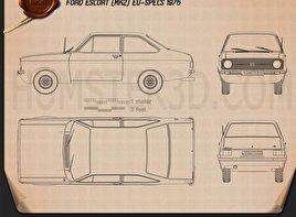 Ford Escort (EU) 1975 Blueprint