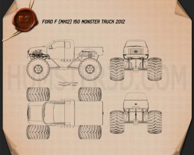 Ford F-150 Monster Truck 2012 Blueprint