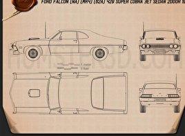 Ford Falcon 429 Super Cobra Jet 2-door 1970 Blueprint