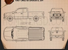 Ford F-150 Super Cab XLT 2014 Blueprint