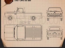 Ford F-100 1966 Blueprint