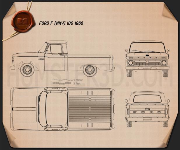 Ford F-100 1966 Blueprint