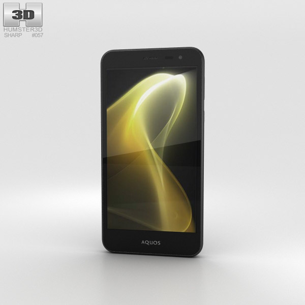 Sharp Aquos U SHV35 黒 3Dモデル