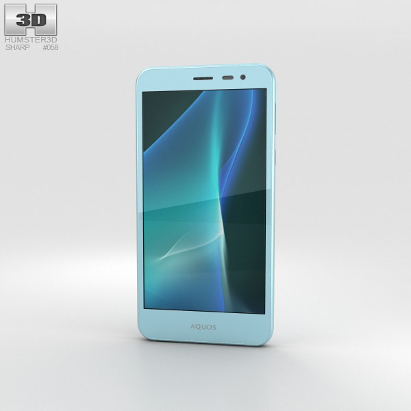 Sharp Aquos U SHV35 Blue 3Dモデル