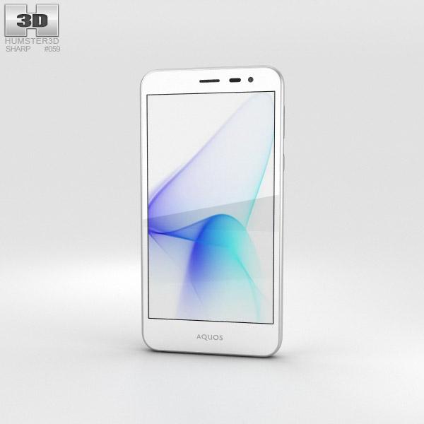 Sharp Aquos U SHV35 白い 3Dモデル