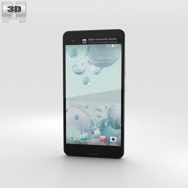 3D model of HTC U Ultra Ice White