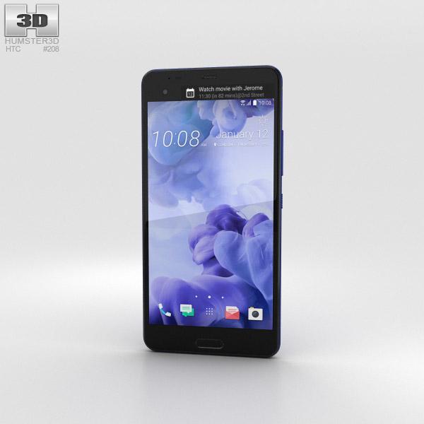 3D model of HTC U Ultra Sapphire Blue