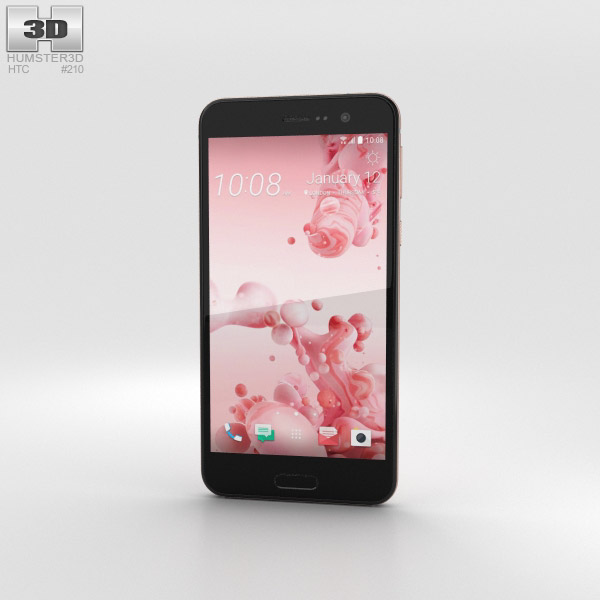3D model of HTC U Play Cosmetic Pink