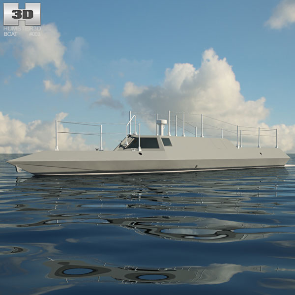 SEALION I Surface Vessel 3D model