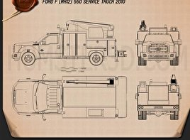 Ford F-550 Service Truck 2010 Blueprint