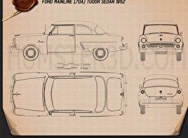 Ford Mainline (70A) Tudor Sedan 1952 Blueprint