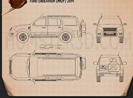 Ford Endeavour 2014 Blueprint