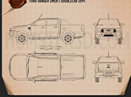 Ford Ranger Double Cab 2015 Blueprint