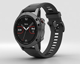 3D model of Garmin Fenix 5 Slate Gray with Black Band