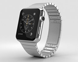 Apple Watch Series 2 42mm Stainless Steel Case Link Bracelet 3D model