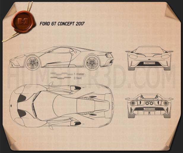 Ford GT 2017 Blueprint