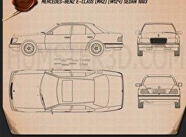 Mercedes-Benz E-Class sedan 1993 Blueprint