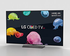 "3D model of LG 55"" OLED TV  B6 OLED55B6V"