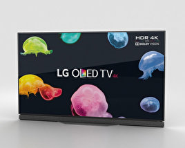"3D model of LG 65"" OLED TV E6 OLED65E6V"