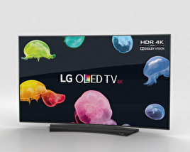 "3D model of LG 55"" OLED TV  C6 OLED55С6V"