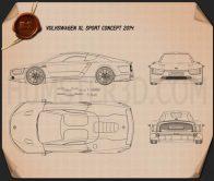Volkswagen XL Sport 2014 Blueprint