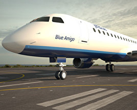 3D model of Embraer E190