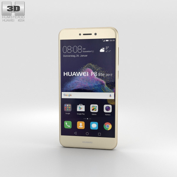 Huawei P8 Lite (2017) Gold 3D model