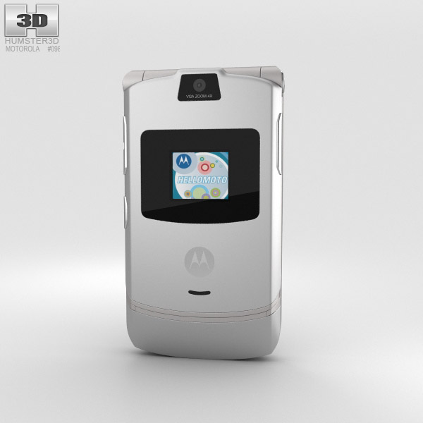 3D model of Motorola RAZR V3 Silver