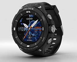 3D model of Casio Pro Trek WSD-F20 Black