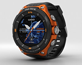 3D model of Casio Pro Trek WSD-F20 Orange