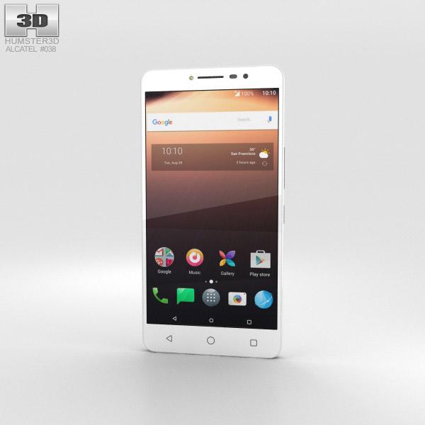 Alcatel A3 XL White 3D model