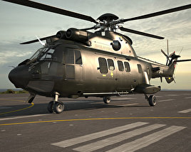Eurocopter AS532 Cougar 3D model
