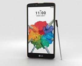 3D model of LG Stylo 2 Plus Brown