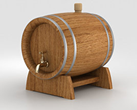 3D model of Barrel Beer