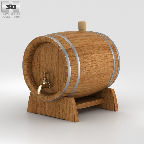 Barrel Beer 3D model