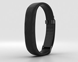 3D model of Jawbone UP2 Black Diamond Classic Flat Strap