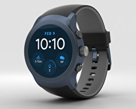 LG Watch Sport Dark Blue 3D model
