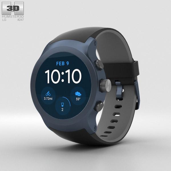 LG Watch Sport Dark Blue 3D model
