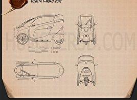 Toyota i-Road 2013 Blueprint