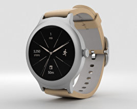 LG Watch Style Silver 3D model