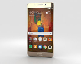 3D model of Huawei Mate 9 Pro Haze Gold