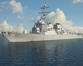 3D model of USS Arleigh Burke (DDG-51)