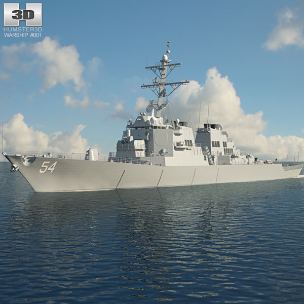 USS Arleigh Burke (DDG-51) 3D model