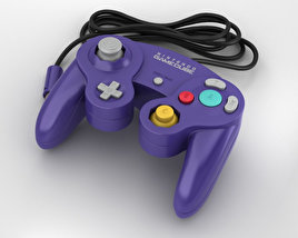3D model of Nintendo GameCube Сontroller