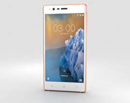 3D model of Nokia 3 Copper White
