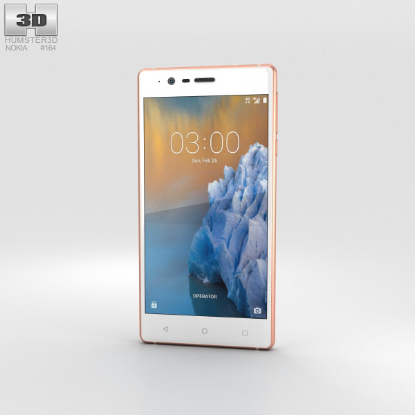 Nokia 3 Copper White 3D model