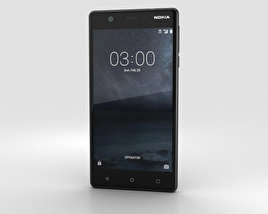 3D model of Nokia 3 Matte Black